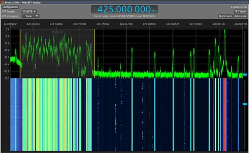 COMINT Krypto 1000 SIGINT Software display