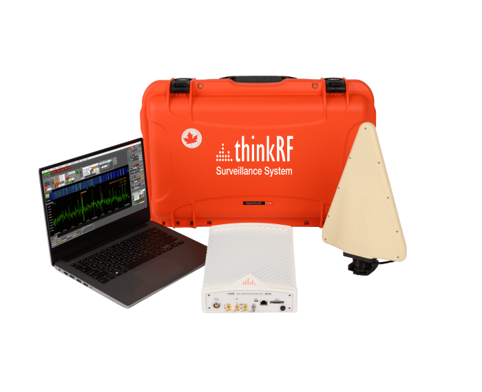 ThinkRF Surveillance System with R5750 Real-Time Spectrum Analyzer and Kestrel TSCM Professional Software with Directional Antenna