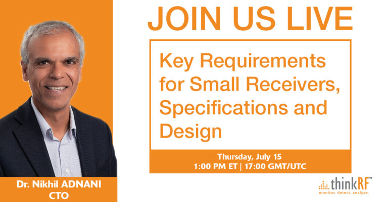 Upcoming webinar: Key Requirements for Small Receivers, Specifications and Design